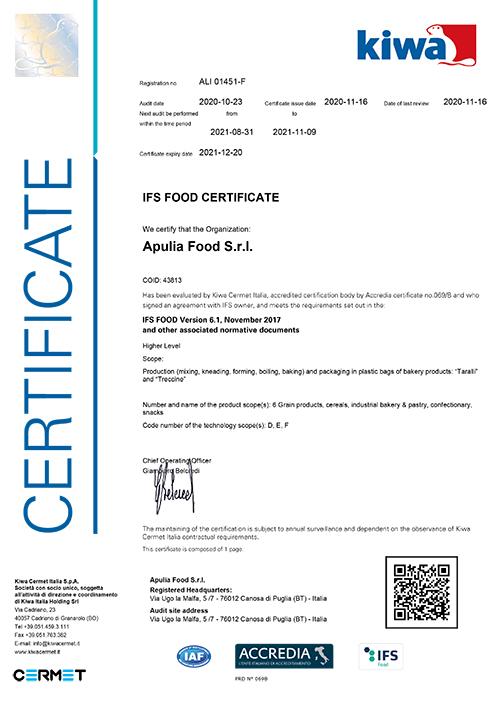 Certificato-IFS-Apulia-2020